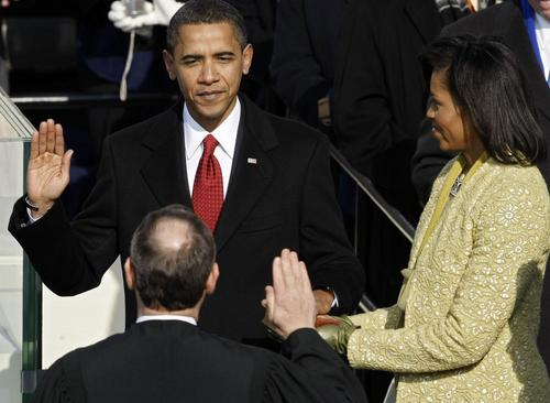 Barack Obama is sworn in as 44th President